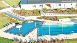 Schwimmbad Freibad Hallenbad Gehen Laufen Familie